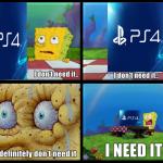 SpongeBob Reaction Over The PS4